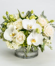 premium white blooms flower arrangement