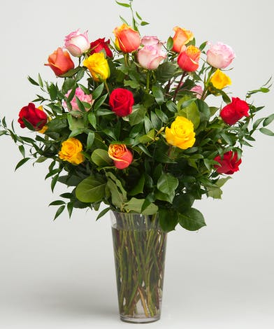Classic Mixed Rose Arrangement Philadelphia