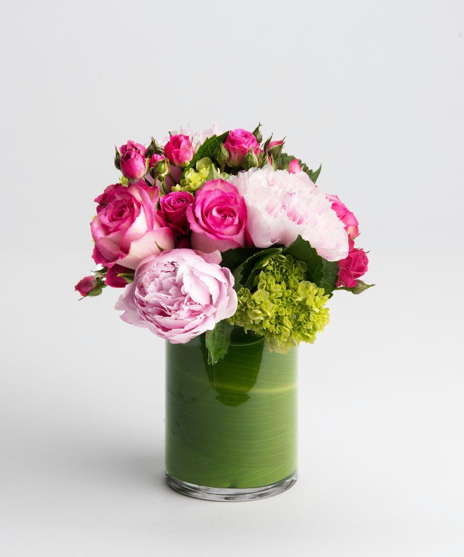 Pink Roses & Peonies Arrangement