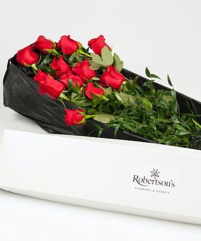 Classic Boxed Red Roses Philadephia