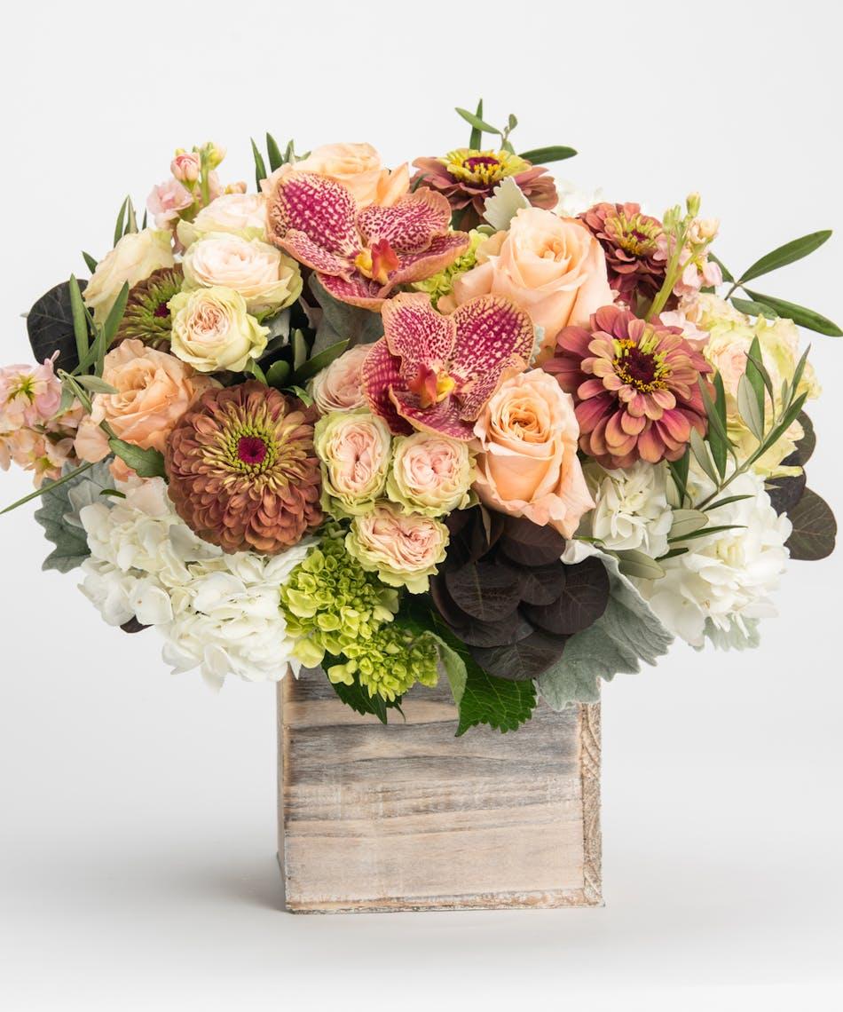 Rustic Ros Flower Delivery Philadelphia Florist Robertsons