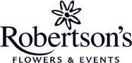 Logo for Robertson's Flowers Philadelphia