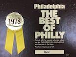 Our 1978 award for Philadelphia Magazine's Best of Philly