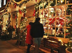 Seasonal decorations and gifts on display in our downtown Philadelphia location